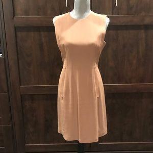 Camel Alexander Wang sleeveless A-line mini dress